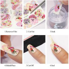 Fashion Flower Water Nail Stickers
